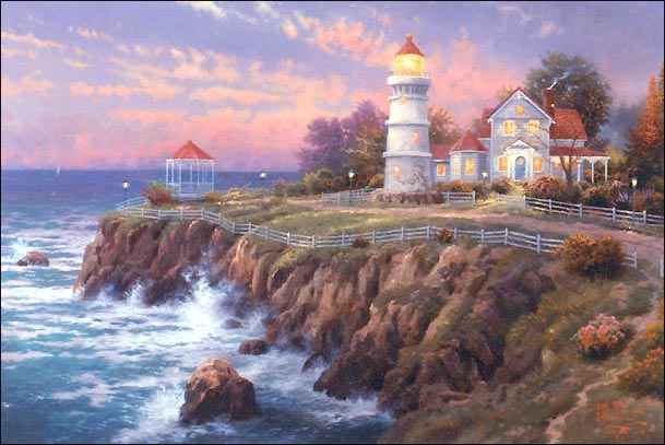 Beautiful art photos by Thomas Kinkade