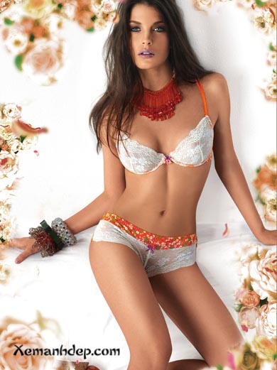 Bikini girl and flower photos