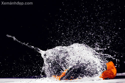 High speed water photography
