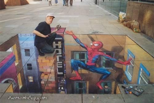 Street illusion photos - Optical illusion - Nghệ thuật vẽ tranh đường phố