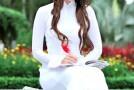 Ảnh Hot girl Midu xinh xắn trong bộ áo dài trắng