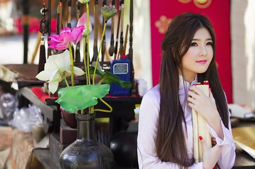 Bộ Ảnh Girl Xinh Việt Nam Trong Tà Áo Dài