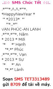 Tin nhắn chúc mừng năm mới 2013