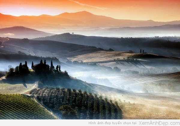 Phong canh dep Tuscany